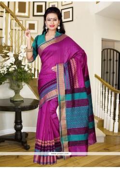 Beauteous Multi Colour Print Work Silk Casual Saree