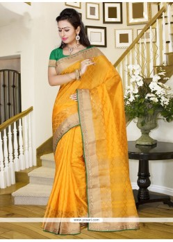 Fetching Yellow Casual Saree