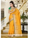 Fetching Yellow Casual Saree