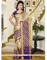 Riveting Shimmer Georgette Print Work Casual Saree