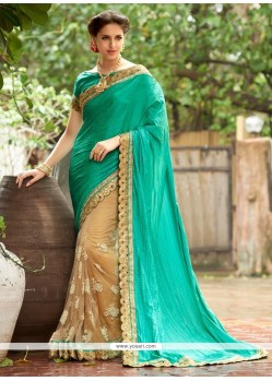 Flattering Embroidered Work Net Designer Saree