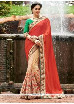 Zesty Beige Art Silk Classic Designer Saree