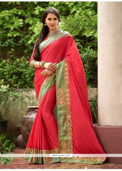 Intrinsic Georgette Patch Border Work Classic Designer Saree