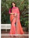 Blissful Orange Classic Saree