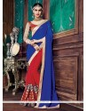 Exquisite Embroidered Work Designer Half N Half Saree