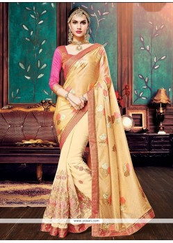 Sumptuous Embroidered Work Designer Half N Half Saree