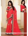 Glorious Pure Chiffon Designer Saree