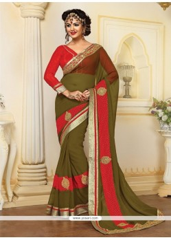 Superb Resham Work Designer Saree