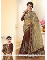 Exquisite Net Brasso Brown Designer Saree