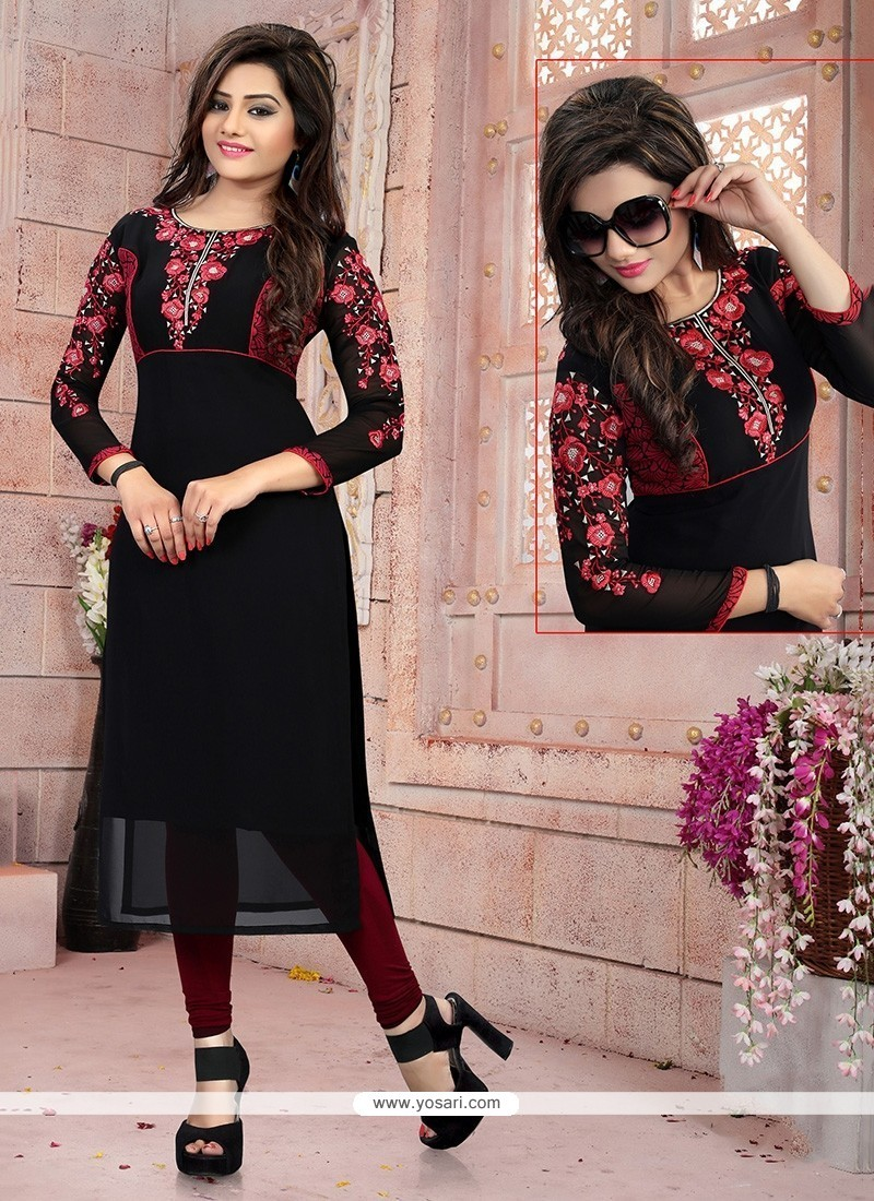 Surpassing Embroidered Work Party Wear Kurti