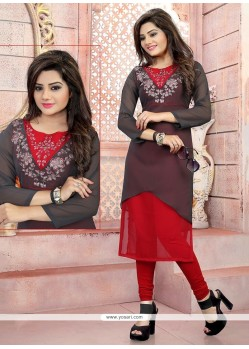 Monumental Georgette Party Wear Kurti
