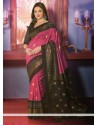 Fascinating Pink Art Silk Saree
