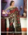 Extraordinary Black Art Silk Saree