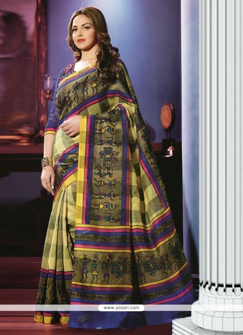 Excellent Multicolor Art Silk Casual Saree