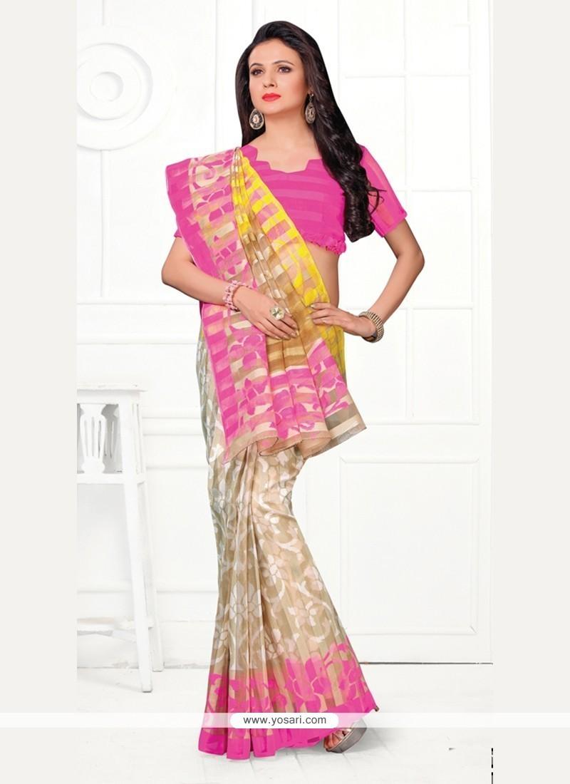 Adorable Print Work Cotton Printed Saree