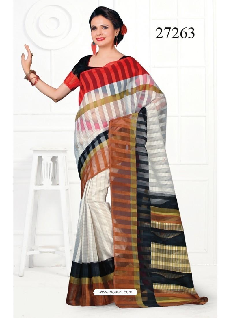 Integral Cotton Print Work Casual Saree
