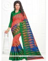 Affectionate Cotton Multi Colour Print Work Casual Saree