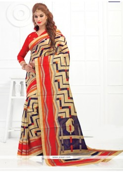 Scintillating Silk Print Work Printed Saree