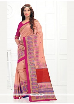 Versatile Silk Multi Colour Printed Saree