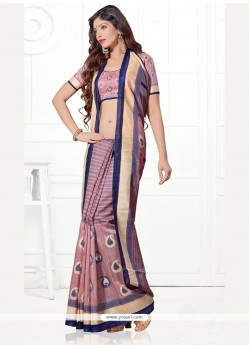 Winsome Print Work Casual Saree
