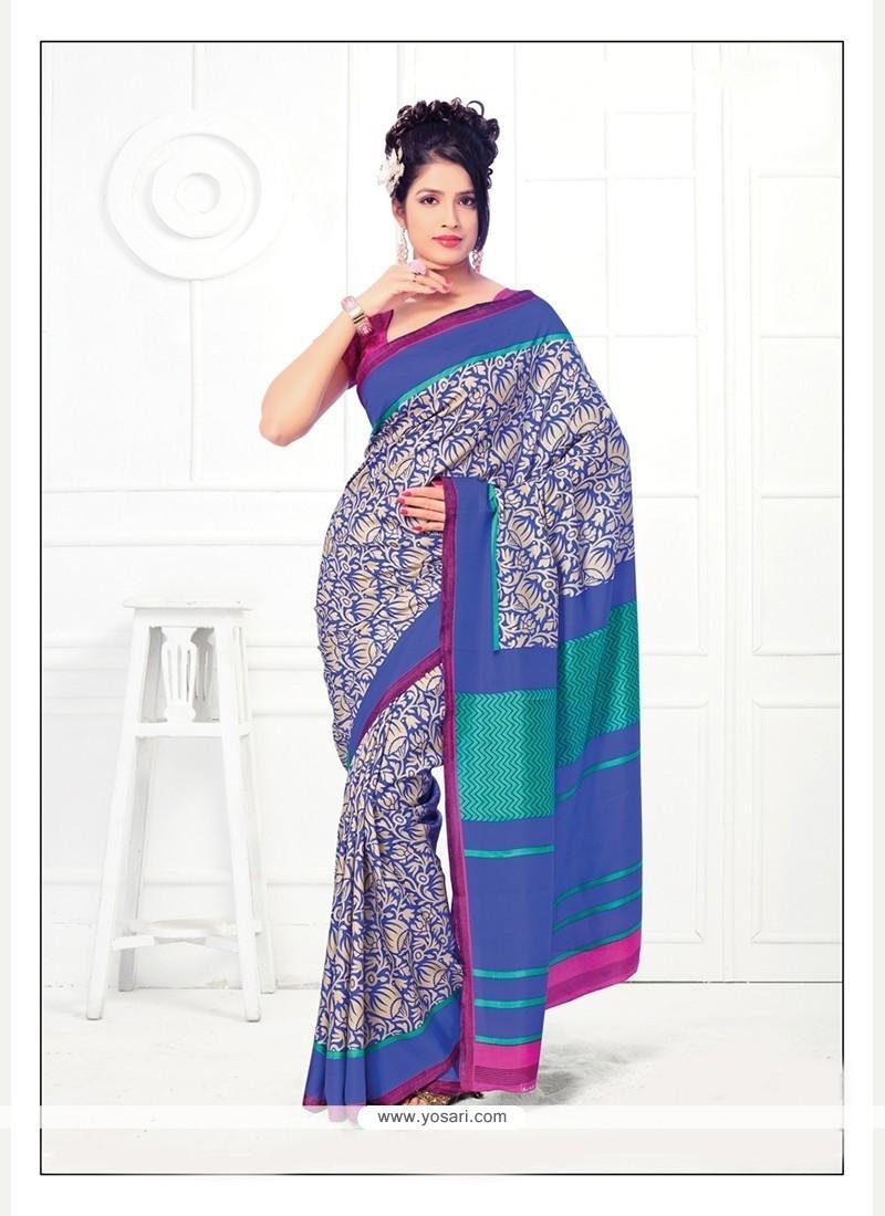 Perfervid Multi Colour Printed Saree