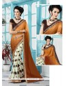 Dignified Multi Colour Print Work Georgette Printed Saree