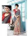 Absorbing Georgette Print Work Printed Saree