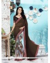 Riveting Georgette Multi Colour Printed Saree