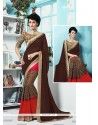 Catchy Georgette Multi Colour Printed Saree