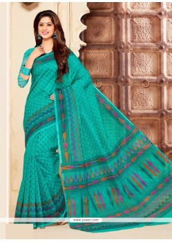 Spellbinding Cotton Multi Colour Casual Saree