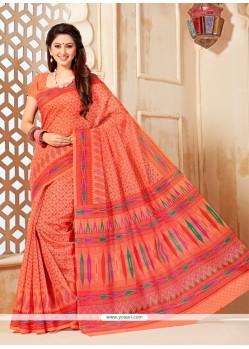 Picturesque Print Work Cotton Casual Saree
