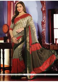 Desirable Beige Art Silk Saree