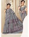 Vivacious Print Work Multi Colour Casual Saree