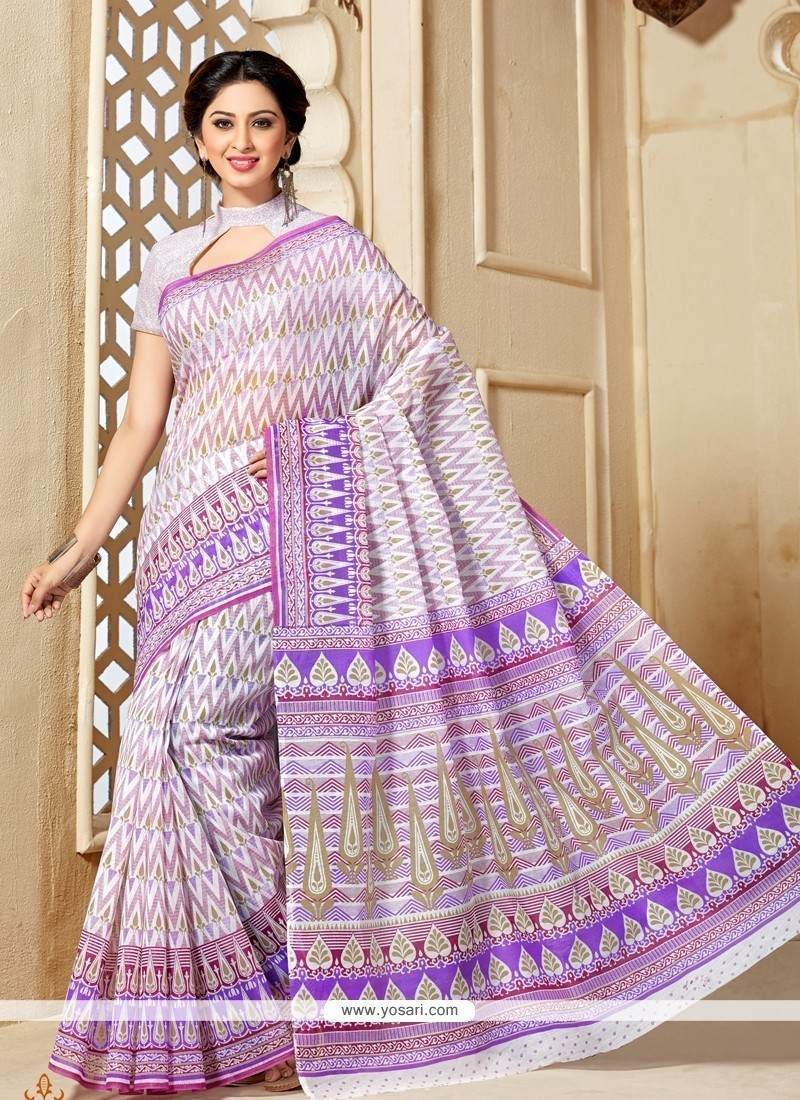 Dainty Multi Colour Casual Saree