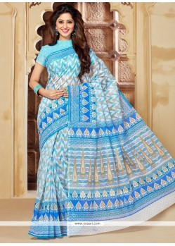 Aristocratic Print Work Cotton Casual Saree