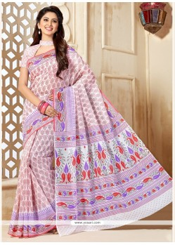 Ethnic Cotton Multi Colour Casual Saree
