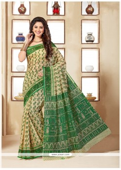 Remarkable Multi Colour Print Work Cotton Casual Saree
