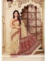 Hypnotizing Cotton Print Work Printed Saree