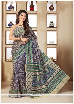 Superlative Print Work Multi Colour Casual Saree