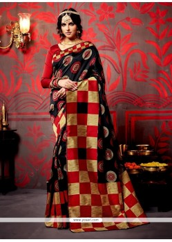 Urbane Weaving Patch Border Work Designer Saree
