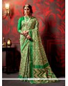 Monumental Patch Border Work Weaving Traditional Saree