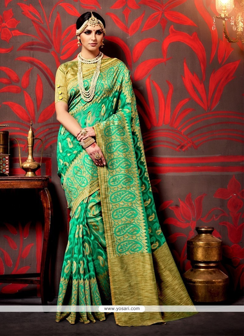 af110625a333 Buy Vibrant Green Trendy Saree | Wedding Sarees