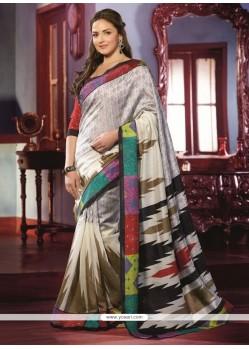 Delightful Off White Art Silk Saree