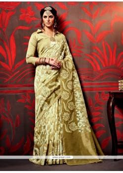 Energetic Gold Classic Designer Saree