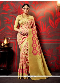 Elite Weaving Gold Classic Saree