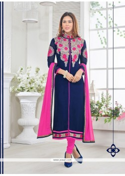 Mod Resham Work Georgette Churidar Designer Suit