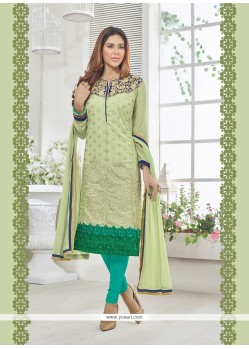 Brilliant Resham Work Churidar Designer Suit