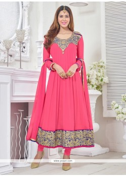 Celestial Hot Pink Churidar Designer Suit