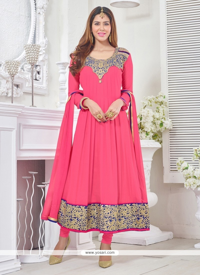 Celestial Hot Pink Churidar Designer Suit