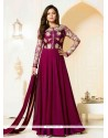 Incredible Embroidered Work Georgette Designer Floor Length Suit